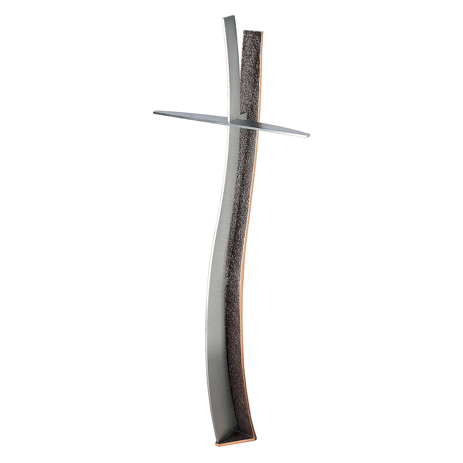 Croce terrena in bronzo h. 60 cm per ESTERNO 3