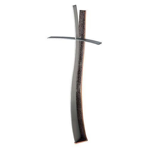 Croce in bronzo terrena cimitero h. 60 cm per ESTERNO 1