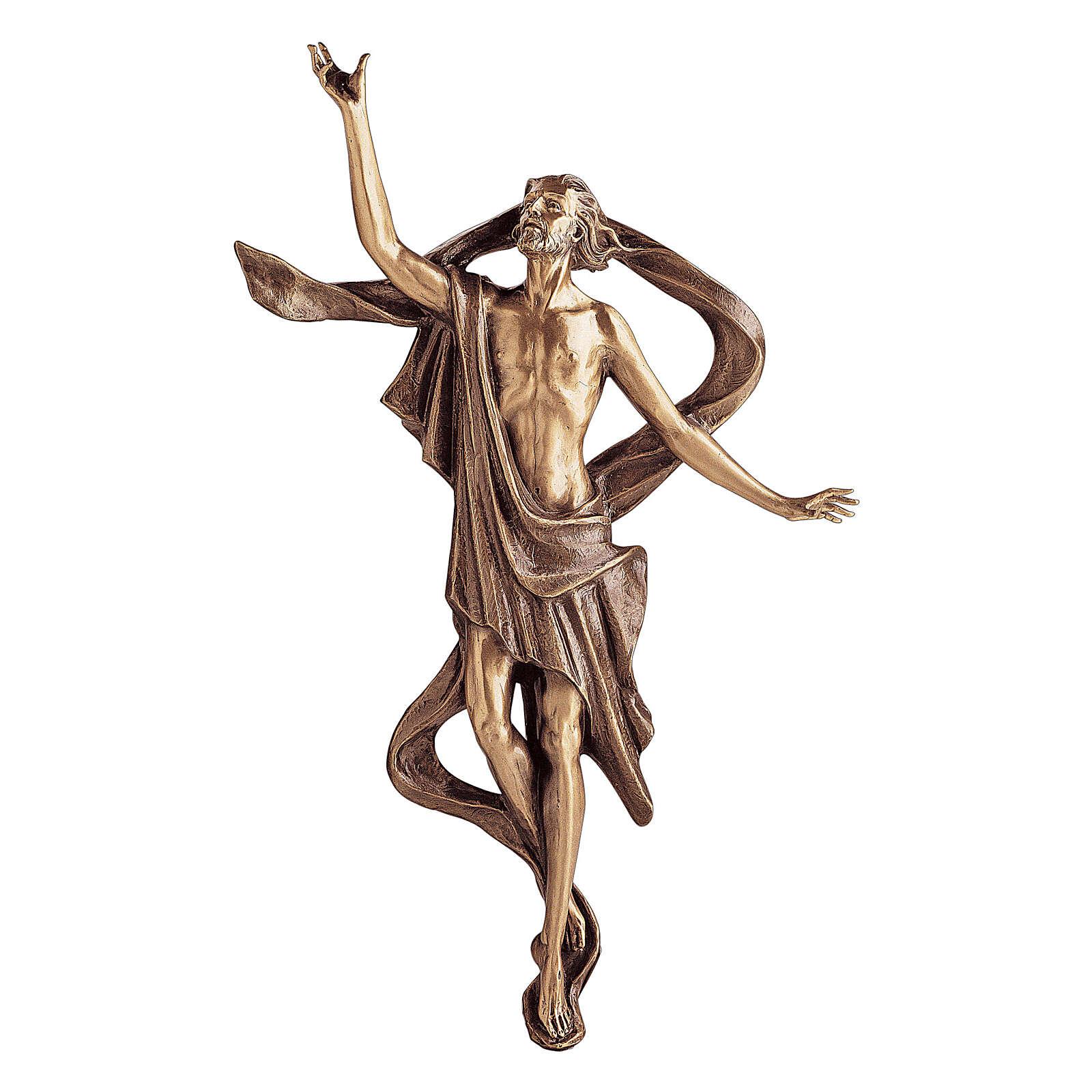 Estatua bronce Ascensión de Jesús 60 cm para EXTERIOR 4