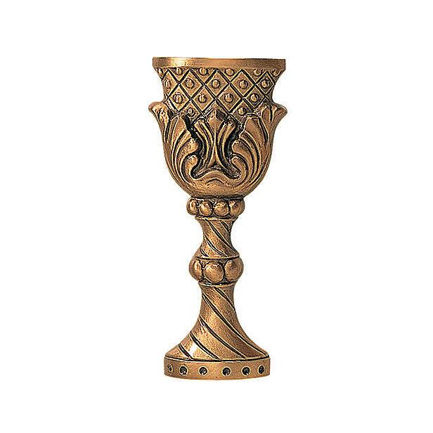 Targa funeraria forma calice bronzo 9 cm per ESTERNO 3