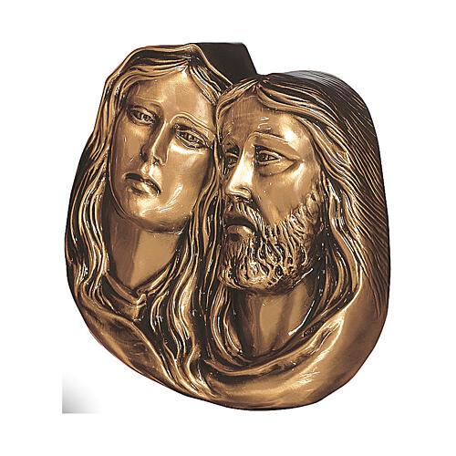 Placa particular de la Piedad bronce satinado 27 cm para EXTERIOR 1