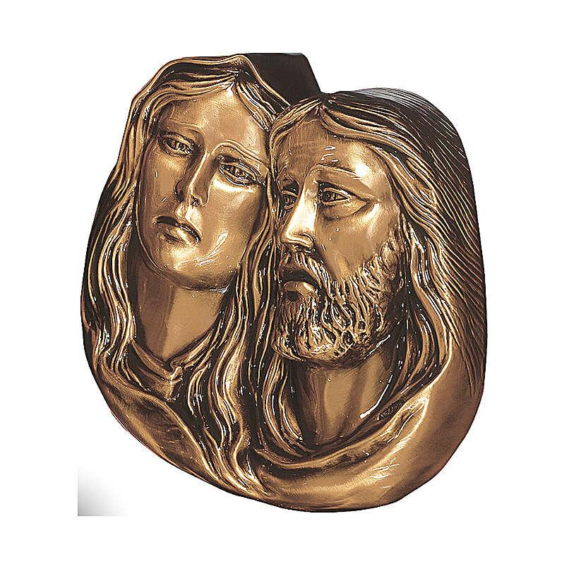 Plaque détail de la Pietà bronze 27 cm pour EXTÉRIEUR 3