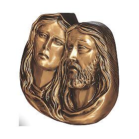 Plaque détail de la Pietà bronze 27 cm pour EXTÉRIEUR s1