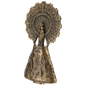 Bronze plaque showing the Our Lady of Pilar 43 cm for EXTERNAL use s4
