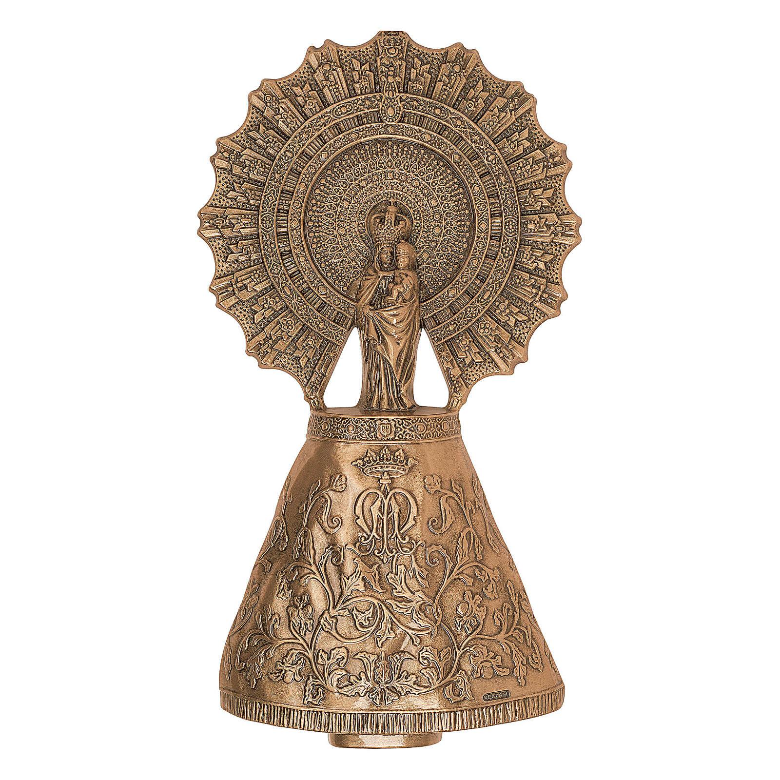 Placa Virgen del Pilar bronce 43 cm para EXTERIOR 3
