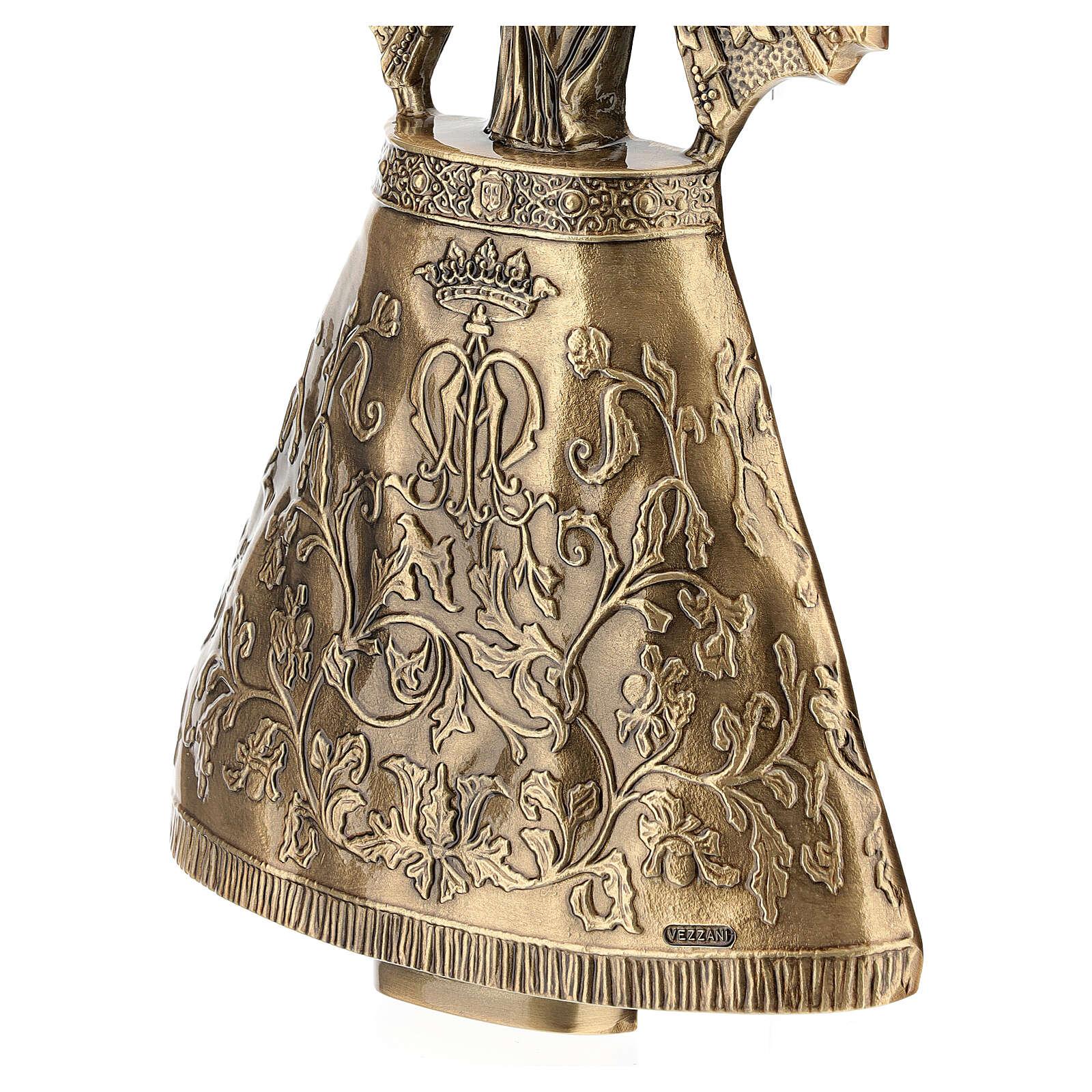 Placa Virgem do Pilar bronze 43 cm para EXTERIOR 3