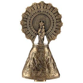 Placa Virgem do Pilar bronze 43 cm para EXTERIOR s1