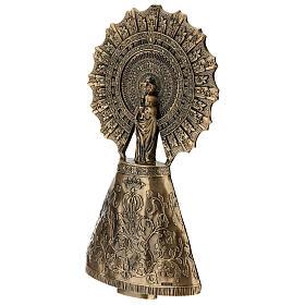 Placa Virgem do Pilar bronze 43 cm para EXTERIOR s4