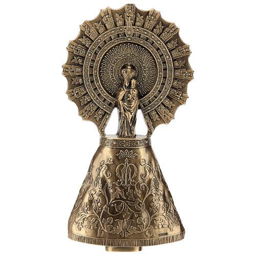Placa Virgem do Pilar bronze 43 cm para EXTERIOR 1