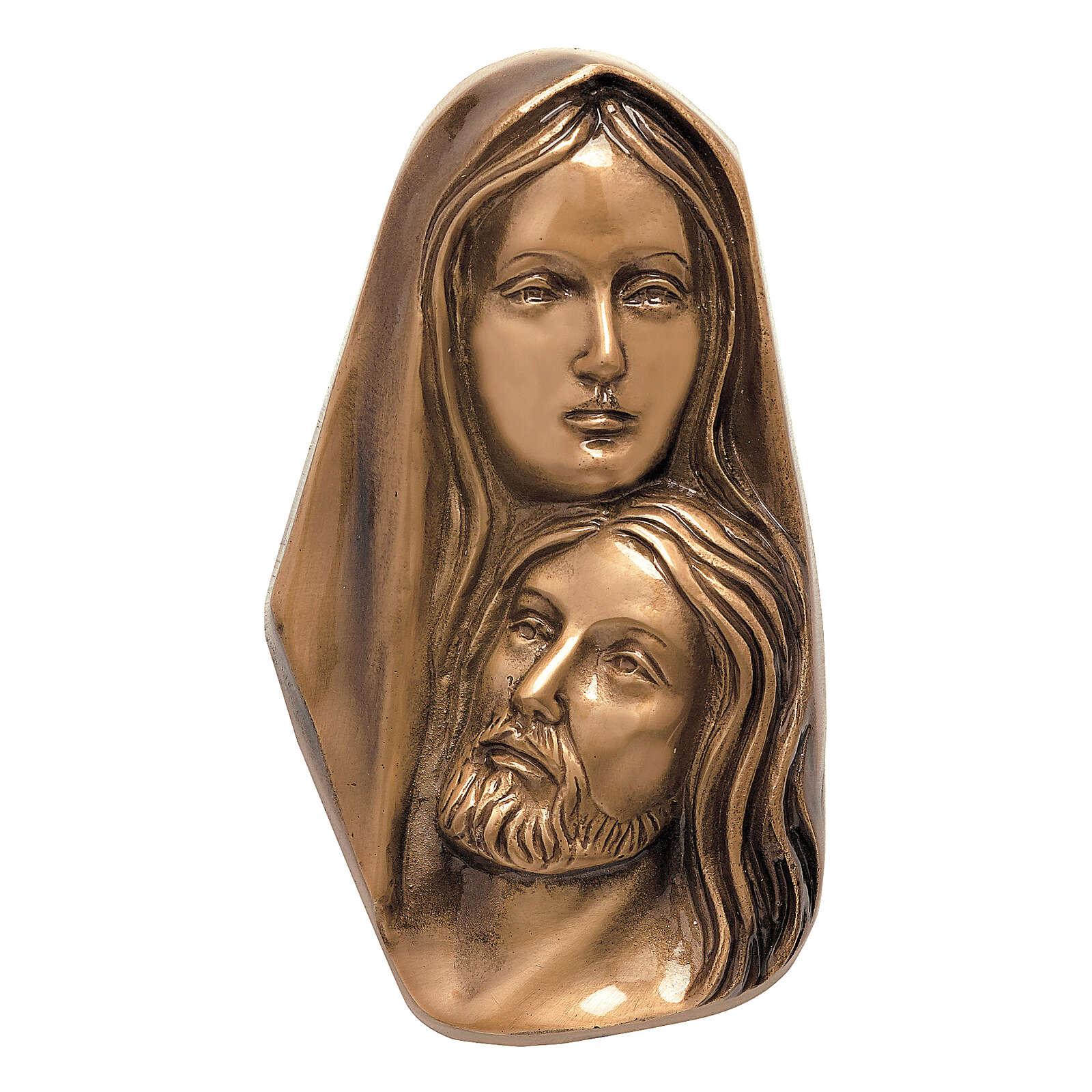 Placa Piedad de Cristo bronce 23 cm para EXTERIOR 3