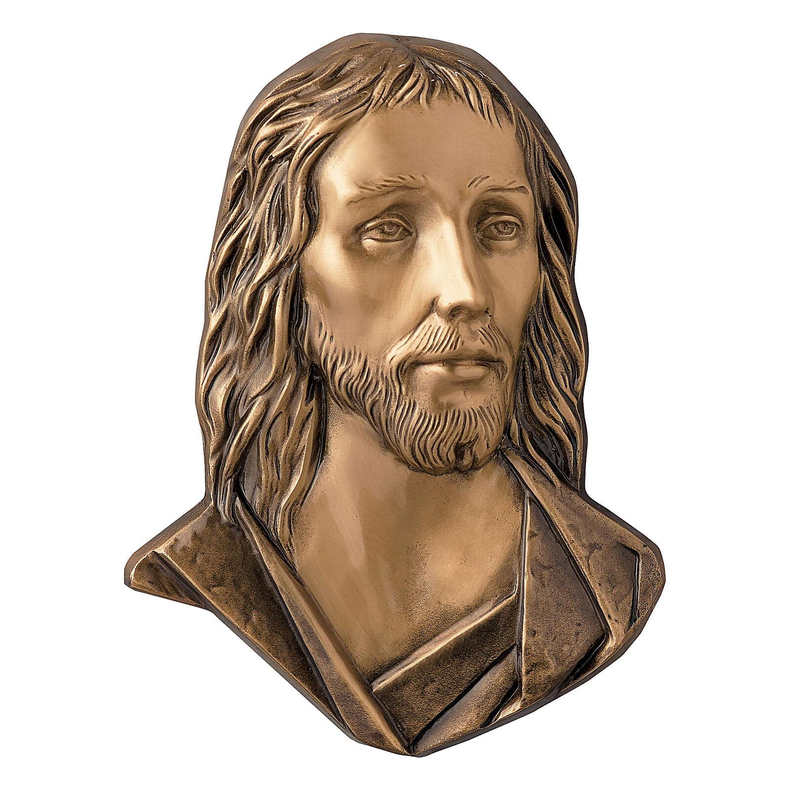 Placa Jesús Cristo bronce 26 cm para EXTERIOR 3