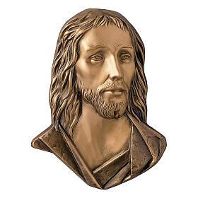 Placa Jesús Cristo bronce 26 cm para EXTERIOR s1