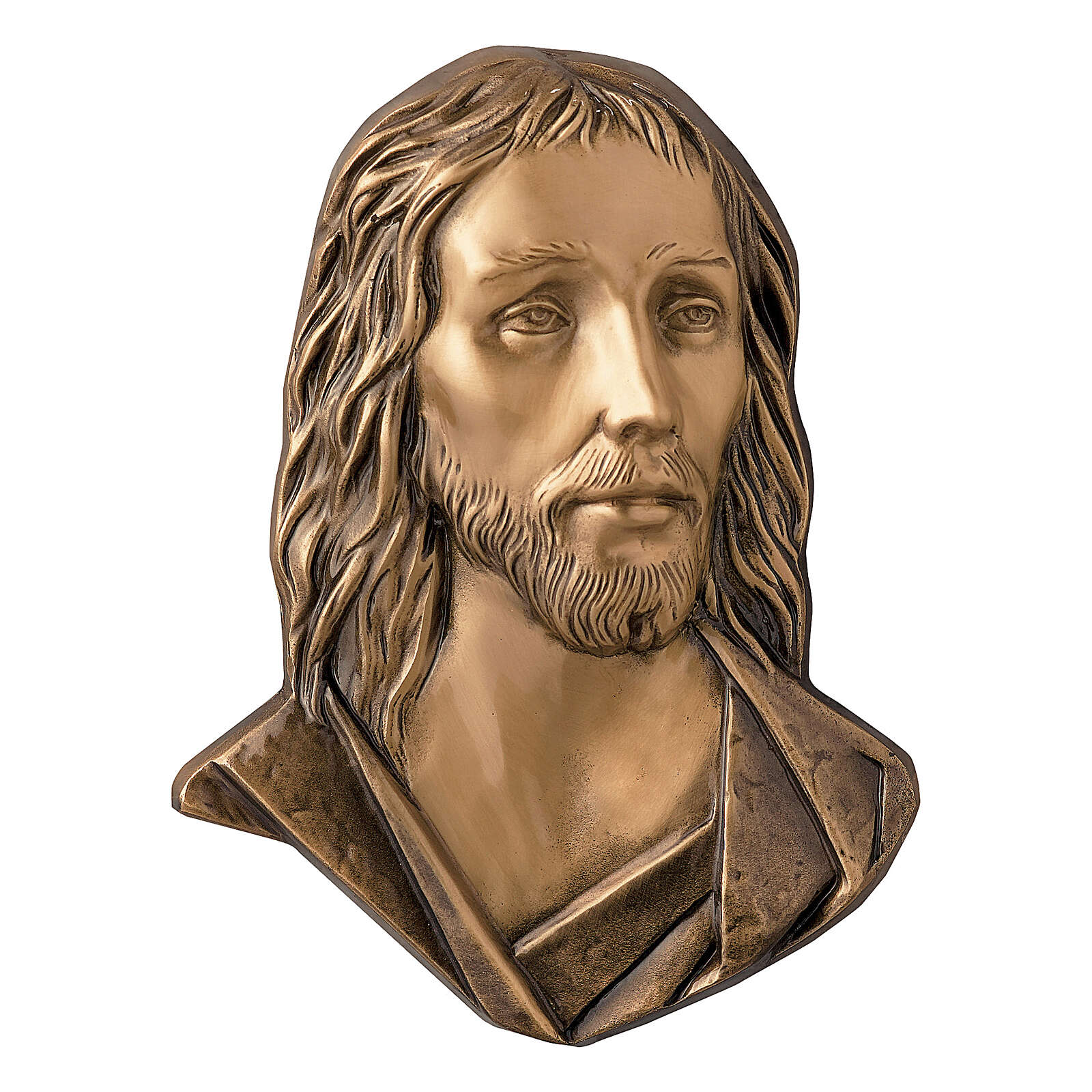 Targa Gesù Cristo bronzo 26 cm per ESTERNO 3