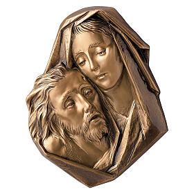 Michelangelo Pieta plaque close-up, bronze 33 cm for OUTDOORS s1