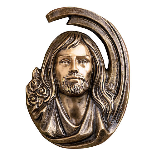 Holy Face of Jesus plaque, 36 cm bronze for OUTDOORS 1