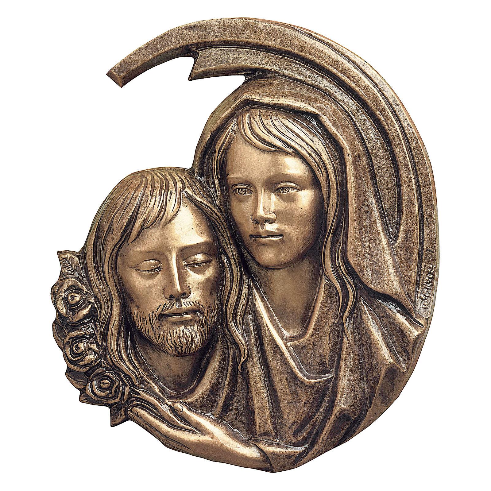 Plaque close-up Pieta of Christ, bronze 44 cm for OUTDOORS 3