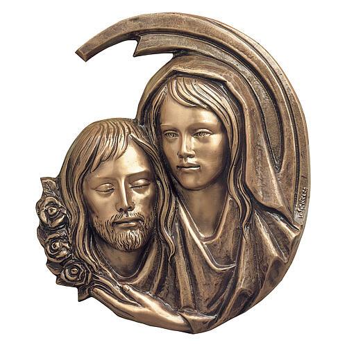 Plaque close-up Pieta of Christ, bronze 44 cm for OUTDOORS 1