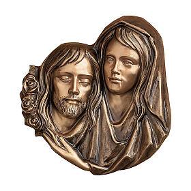 Targa funeraria bronzo Pietà di Cristo 32 cm per ESTERNO s1