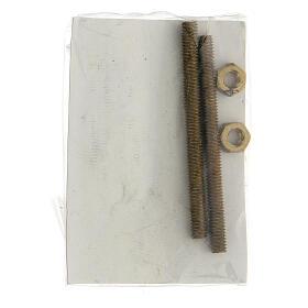 Applicazione ragazza gettafiori bronzo 15 cm per ESTERNO s4