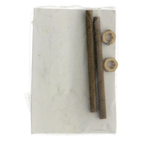 Applicazione ragazza gettafiori bronzo 15 cm per ESTERNO 4