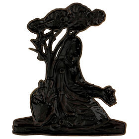 Bronze grave decoration girl with bouquet, 15 cm for OUTDOORS s3