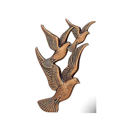 Placa vuelo palomas bronce 17 cm para EXTERIOR 3