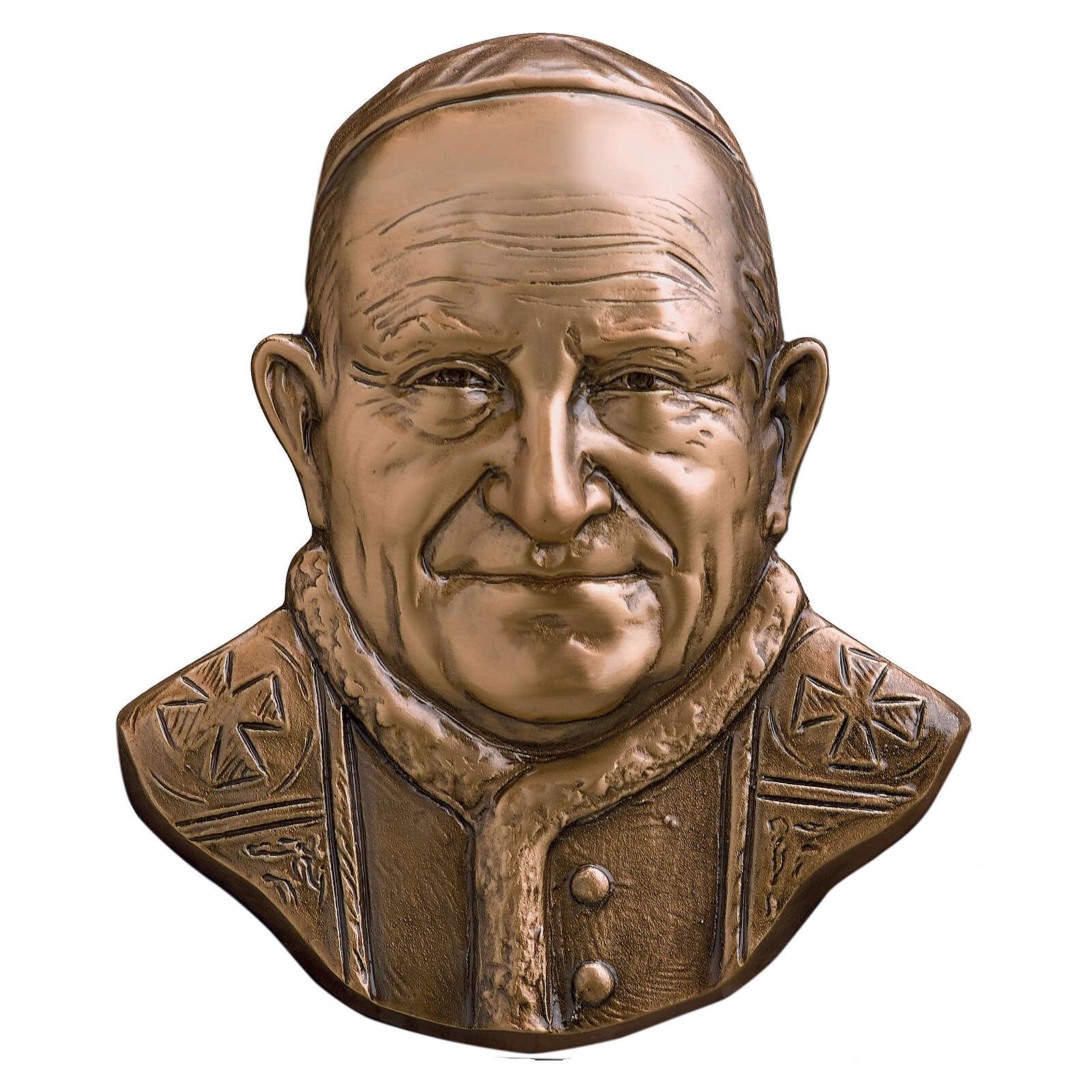 Placa bronce Papa Juan XXIII 21 cm para EXTERIOR 3