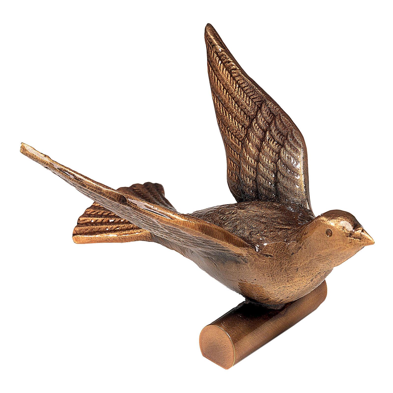 Targa bronzo colomba in volo 14 cm per ESTERNO 3