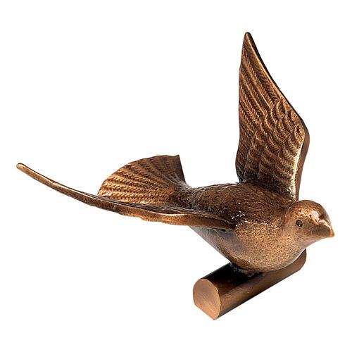 Placa funeraria paloma bronce 13 cm para EXTERIOR 1