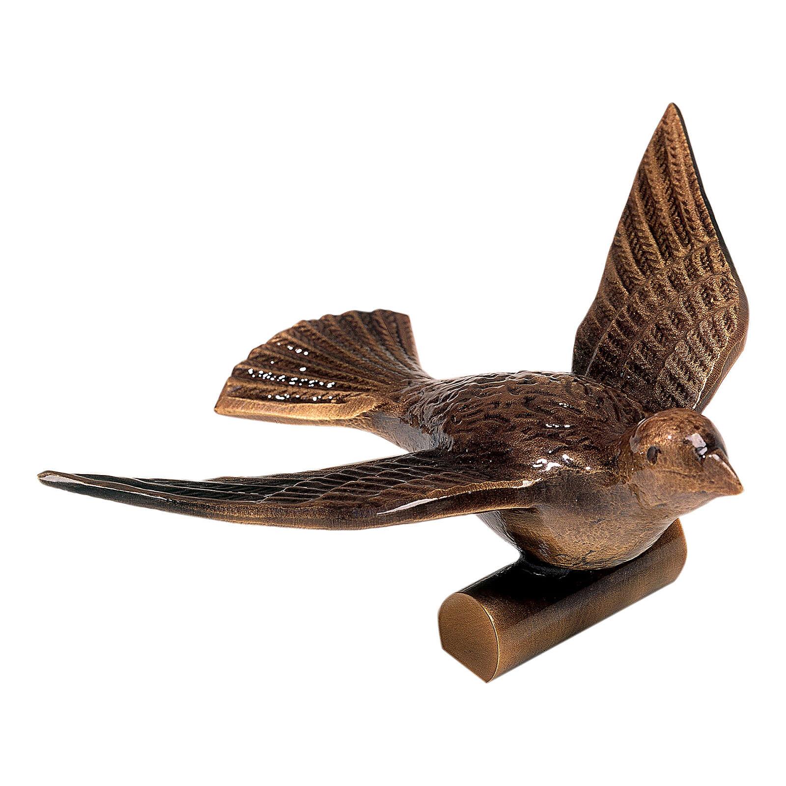 Targa bronzo colomba della pace 10 cm per ESTERNO 3