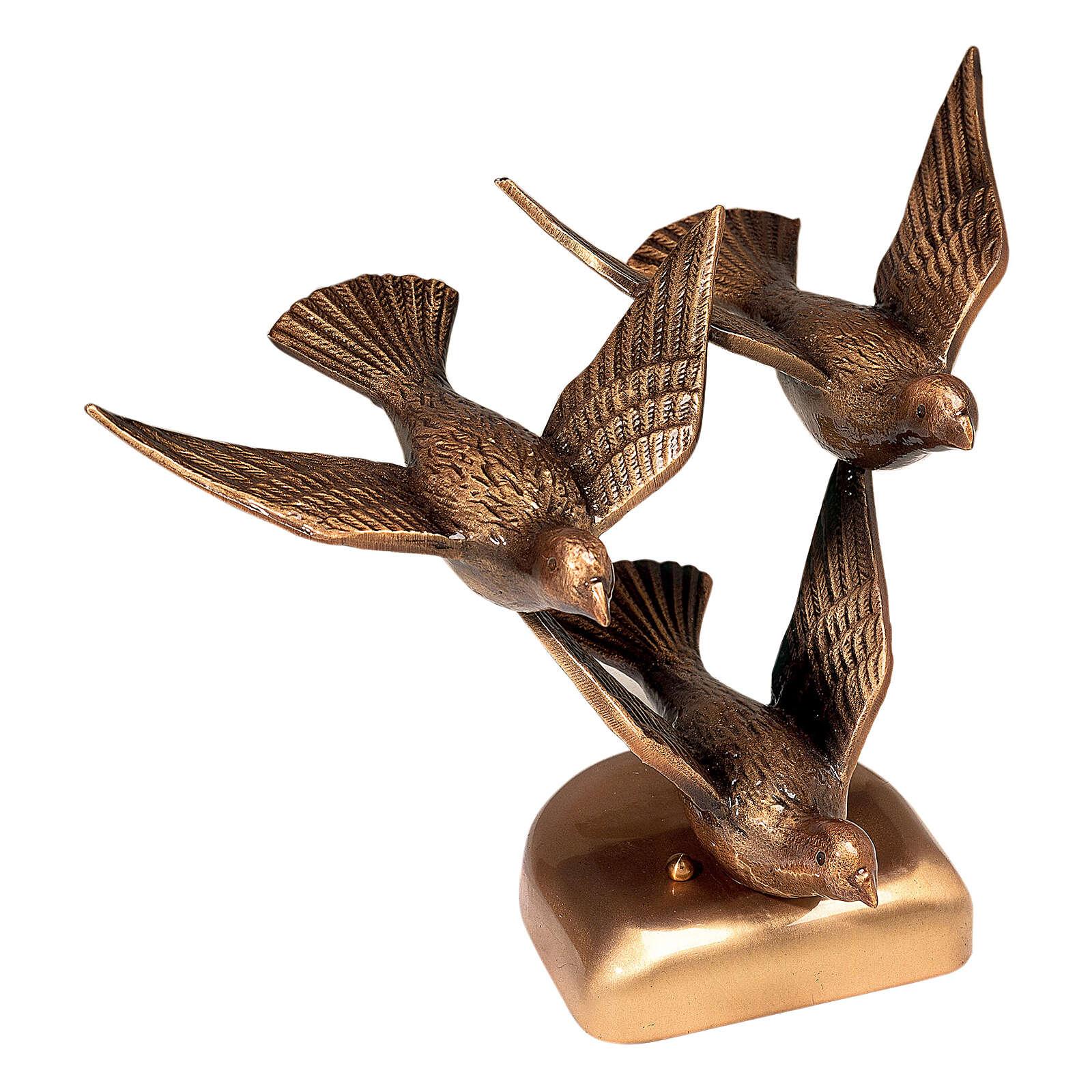 Placa bronce palomas que vuelan 23 cm para EXTERIOR 3