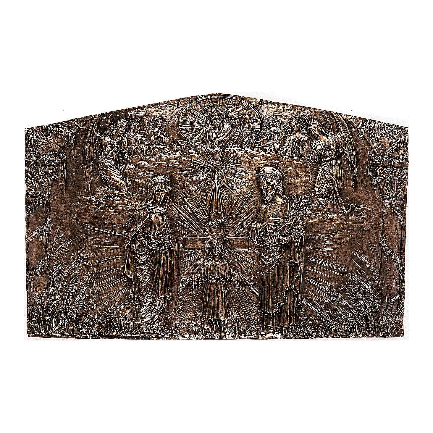 Targa bronzo Sacra Famiglia 80 cm per ESTERNO 3