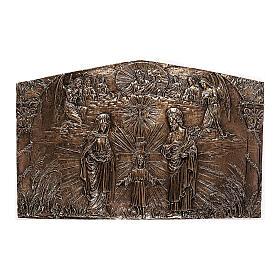 Targa bronzo Sacra Famiglia 80 cm per ESTERNO s1