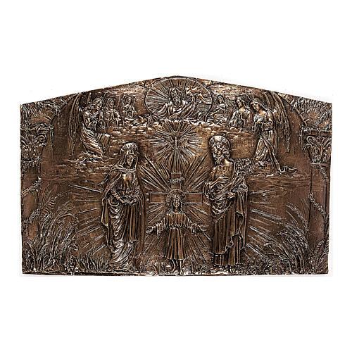 Targa bronzo Sacra Famiglia 80 cm per ESTERNO 1