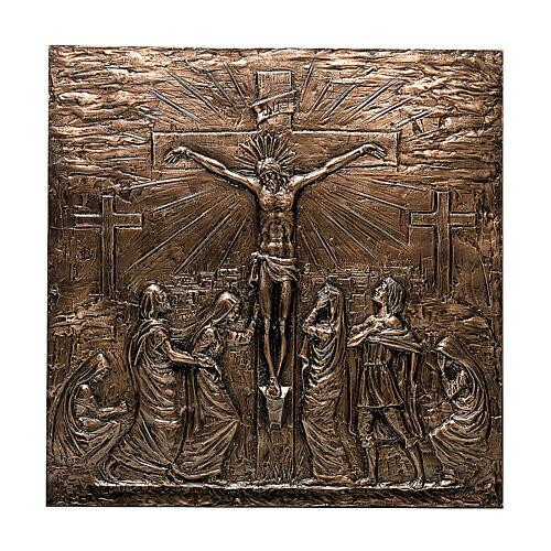 Targa bronzo Crocefissione Gesù 110 cm per ESTERNO 1