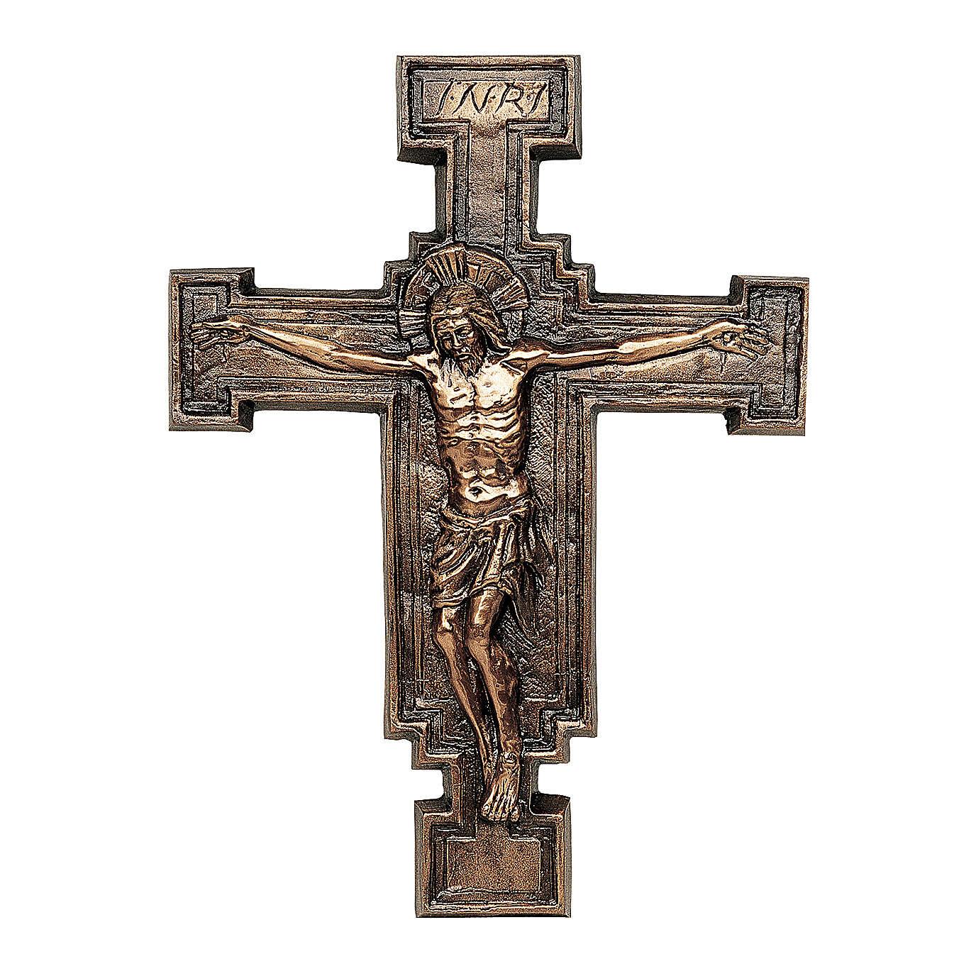 Placa bronce crucifijo57 cm para EXTERIOR 3