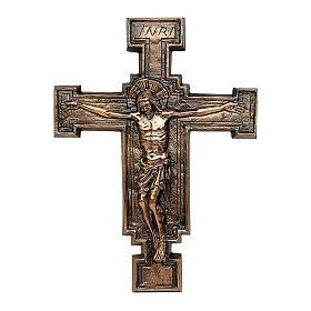 Placa bronce crucifijo57 cm para EXTERIOR s1