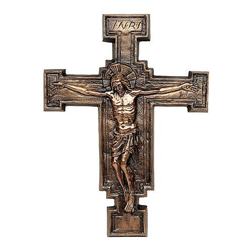 Placa bronce crucifijo57 cm para EXTERIOR 1