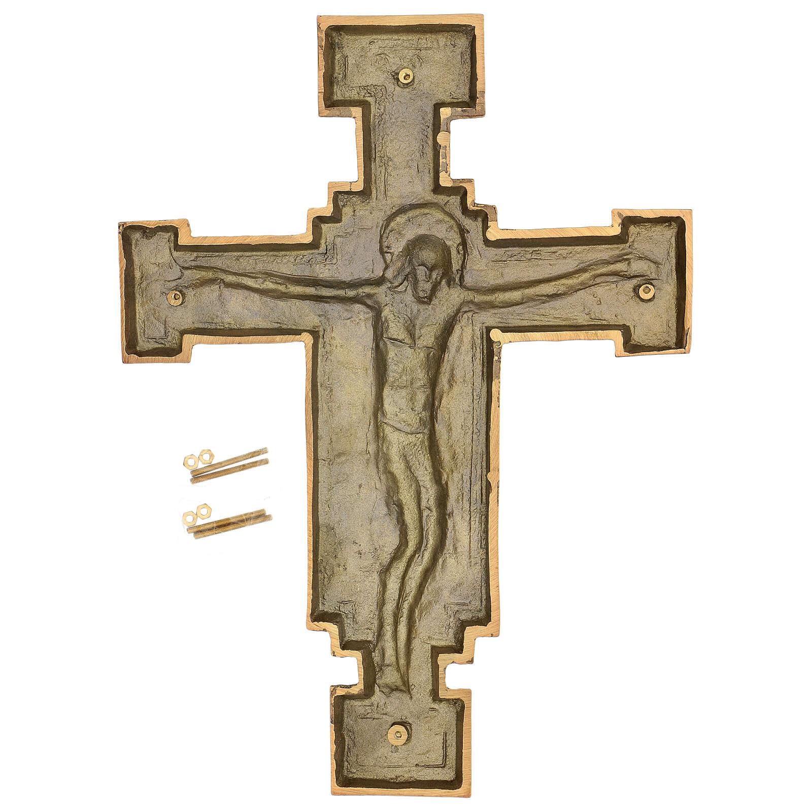 Targa bronzo crocefisso 57 cm per ESTERNO 3