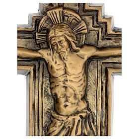 Targa bronzo crocefisso 57 cm per ESTERNO s2