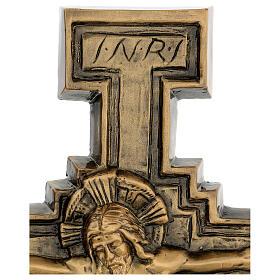 Targa bronzo crocefisso 57 cm per ESTERNO s4