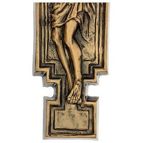 Targa bronzo crocefisso 57 cm per ESTERNO s6
