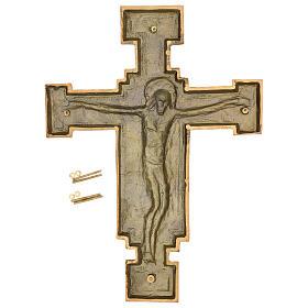 Targa bronzo crocefisso 57 cm per ESTERNO s7