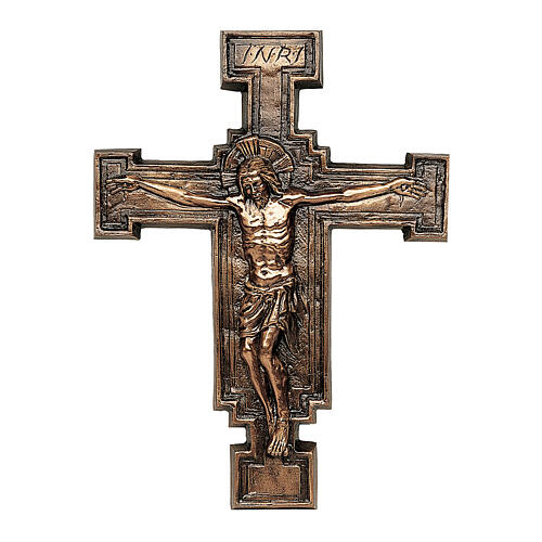 Targa bronzo crocefisso 57 cm per ESTERNO 1