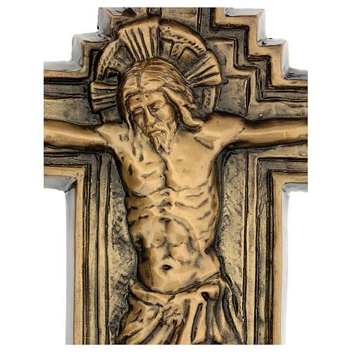 Targa bronzo crocefisso 57 cm per ESTERNO 2