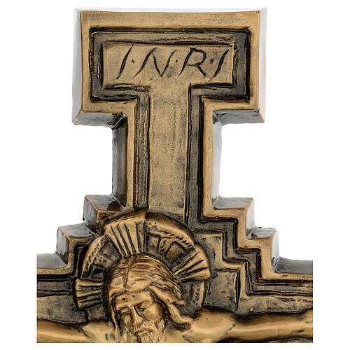 Targa bronzo crocefisso 57 cm per ESTERNO 4