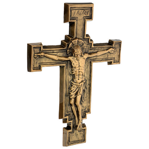 Targa bronzo crocefisso 57 cm per ESTERNO 5