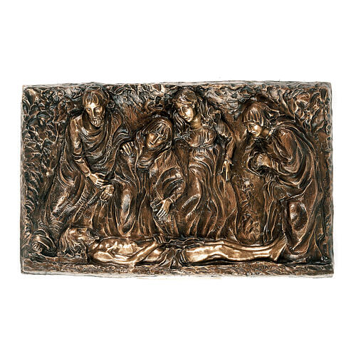 Bronze plaque of The Deposition of Christ, 45 cm for OUTDOORS 1