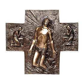 Targa bronzo resurrezione Gesù Cristo 77 cm per ESTERNO s1