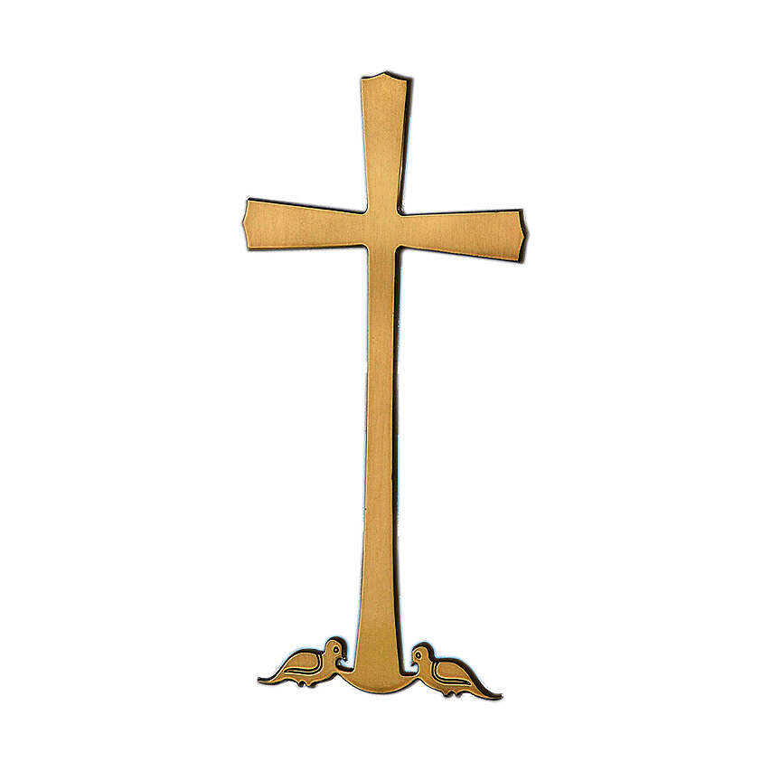 Cross with doves on base 10 cm for OUTDOOR USE 3